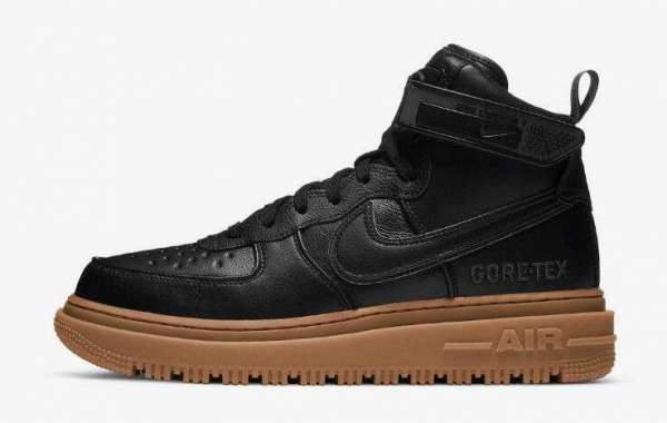 2020 Newly Nike Air Force 1 Gore-Tex Boot Black Gum for Sale